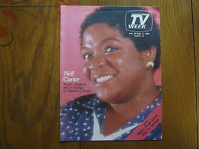 Aug. 28, 1983 Chicago Tribune TV Week  (NELL  CARTER/DOLPH  SWEET/GIMME  A BREAK