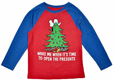 Peanuts Snoopy Christmas Tree Boys Long Sleeve Shirt
