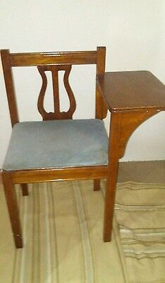 Vintage Gossip Bench Chair Conversation Hidden Seat Compartment