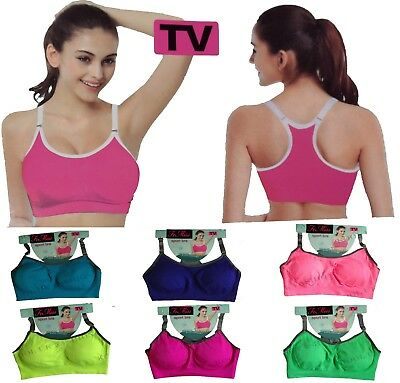 2d181aa198171 Womens Padded Sports Bra Ladies Gym Yoga Workout Fitness Exercises Run Crop  Top