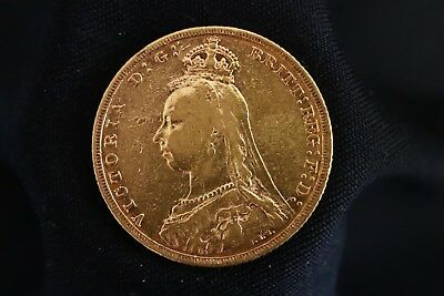 Great Britain FULL Gold Sovereign 1882 M VICTORIA JUBILEE Head   (A2972)