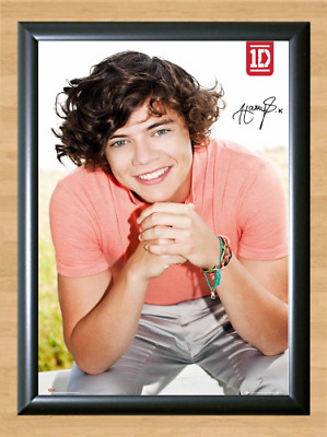 Harry Styles 1 1D Direction Signed Autographed A4 Photo Print Poster Memorabilia