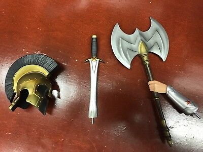 Sideshow Wonder Woman Premium Format Exclusive Axes Sword and Hades Helm