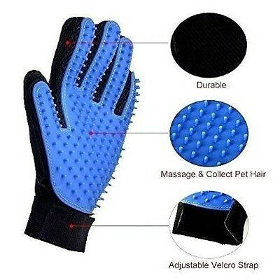 True Touch Deshedding Grooming Glove Dog Cat Pet As Seen On TV New in BOX Sale