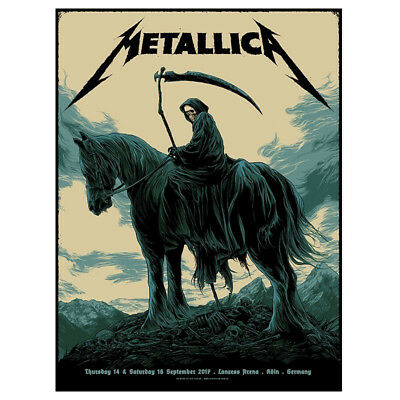 Metallica Cologne Tour Poster By Ken Taylor (Limited!!)