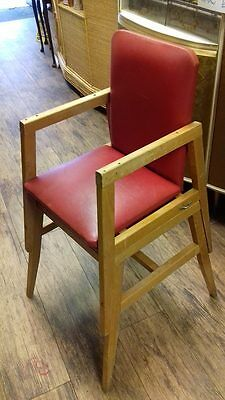 1950s vintage baby/toddler high-chair-vgc-mid century-rare