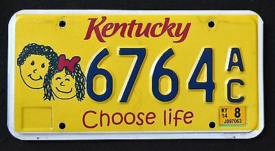 "KENTUCKY "" CHOOSE LIFE "" 2014  KY SPECIALTY License Plate"
