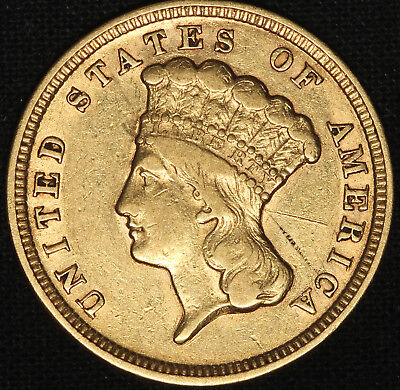 1854 $3 Gold Indian Princess - First Year Coin - Free Shipping USA