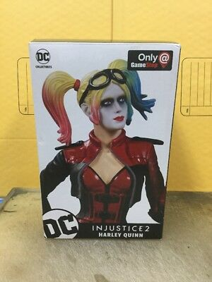 Genuine DC Collectibles Harley Quinn Injustice 2 Statue Brand New sealed