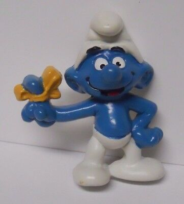 VINTAGE! 1983 Applause Smurfs Magnet-Forgetful Smurf