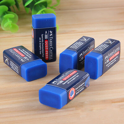 2pcs Blue Faber Castell Rubber Drawing Eraser Pencil Graphic Sketch Art