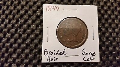 1849 Braided Hair Cent! Free Shipping!