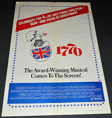 *1776* 1972 ORIG. 27x41 4th OF JULY ADVANCE MOVIE POSTER! BLYTHE DANNER MUSICAL!