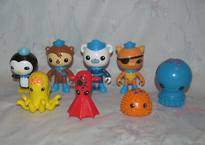 2010 Mattel Octonauts Set of 4 Figures, Animals - Hard Plastic, Articulated