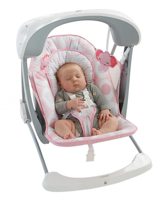 Fisher-Price Deluxe Take Along Swing and Seat, Pink/White