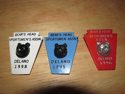 Bear's Head Sportsmen;s ASSN. Delano PA pin 1995 1996 1998