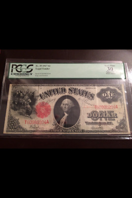Legal Tender $1 1917 PCGS Graded vf 30 Apparent minor stains