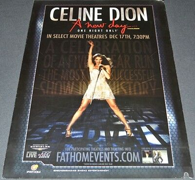 Super Rare! Sexy Celine Dion One Night Only Concert 2007 Orig. Ds Movie Poster!