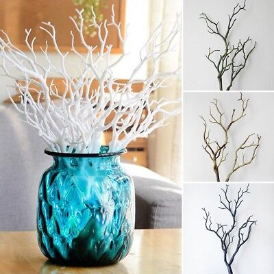 Fashion Artificial Big Plastic Dried Branches Craft Floristry Home Wedding Decor