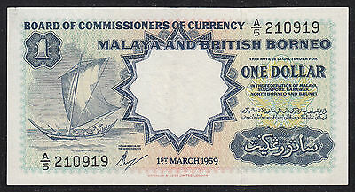 #7: 1959 Malaya & British Borneo (Waterlow & Sons) $1.00 S/n: A/5-210919 Xf