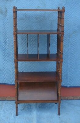 Kindel Faux Bamboo Open Bookcase