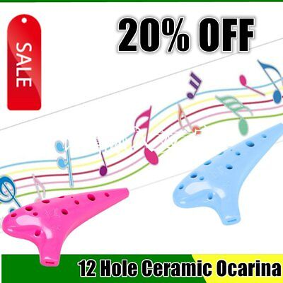 QIMEI 12 Hole Ocarina Ceramic Treble C Legend of Ocarina Musical Instrument GF