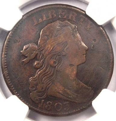 1803 Draped Bust Large Cent 1C S-252 - NGC VF Details - Rare Early Date Penny