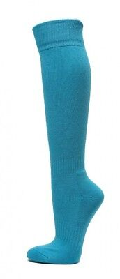 (Large, Sky Blue) - COUVER Premium Quality Knee High Sports Athletic Baseball