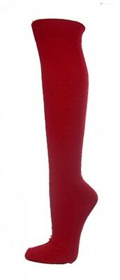 (Large, Dark Red) - COUVER Premium Quality Knee High Sports Athletic Baseball