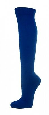 (Medium, Blue) - COUVER Premium Quality Knee High Sports Athletic Baseball