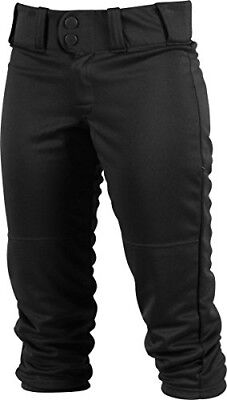 (Large, Black) - Rawlings Sporting Goods Girls Low-rise Belted Pant; 150 Cloth