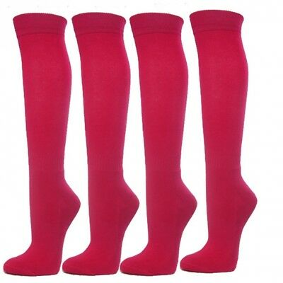 (Large, Hot Pink) - Knee High Premium Quality Sports Athletic Baseball