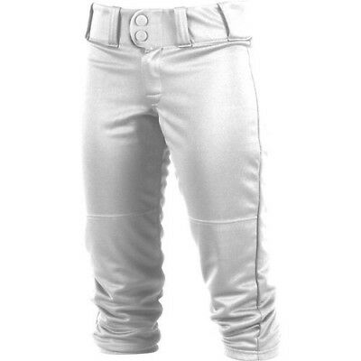 (Medium, White) - Rawlings Sporting Goods Girls Low-rise Belted Pant; 150 Cloth