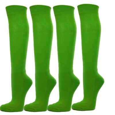 (Large, Bright Green) - Knee High Premium Quality Sports Athletic Baseball