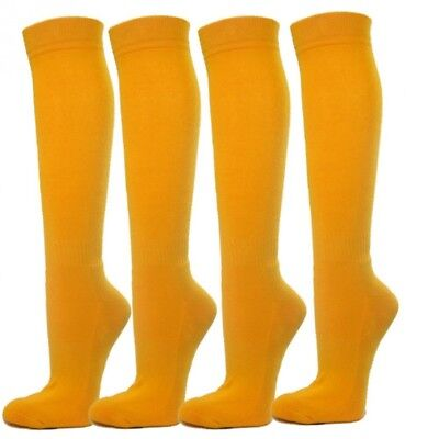 (Large, Golden Yellow) - Knee High Premium Quality Sports Athletic Baseball