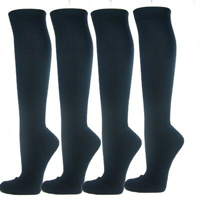 (Large, Navy) - Knee High Premium Quality Sports Athletic Baseball Softball