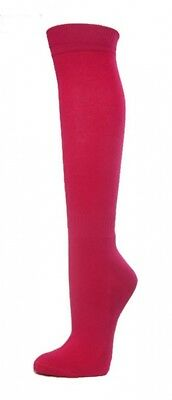 (Medium, Hot Pink) - COUVER Premium Quality Knee High Sports Athletic Baseball