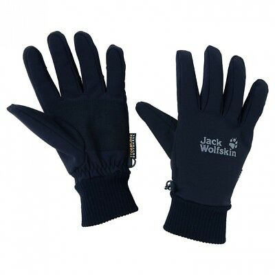 (Black, Small) - Jack Wolfskin Supersonic XT softshell gloves black 2012