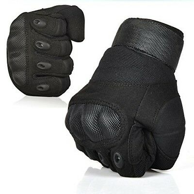 (Black, Medium) - Magic Zone Ventilate Wear-resistant Gloves Hard Knuckle and