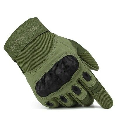 (Army Green, X-Large) - FREE SOLDIER Full Finger Outdoor Gloves for Cycling