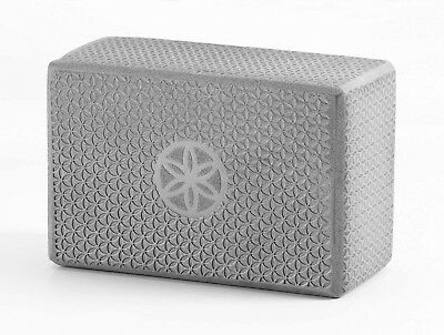 (Grey) - Gaiam Flower of Life Embossed Yoga Block. Shipping is Free