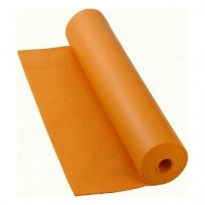 220cm Extra Long Orange Premier Yoga Mat. Ruth White Yoga Products Ltd