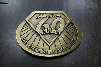 John Deere Belt Buckle 60 Series Combines The Superpowers Of Harvesting Gold EUC
