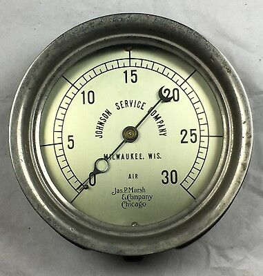 Vintage Johnson Service Company / Air Gauge / Jas P Marsh & Company Chicago