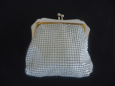 vintage glomesh white and gold purse