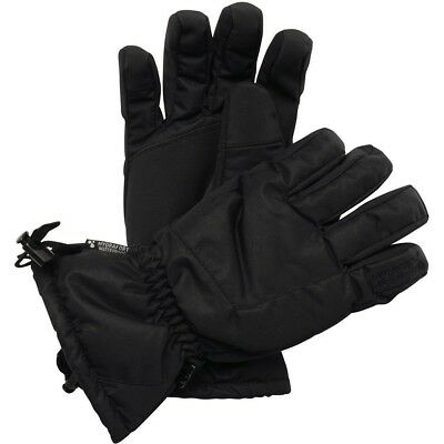 (Black, Small / Medium) - Regatta Mens Channing Waterproof Gloves TRG210 Black