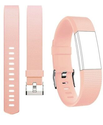 (Large (17cm  - 21cm  wrist), Style A# Blush Pink) - For Fitbit Charge 2 Band,