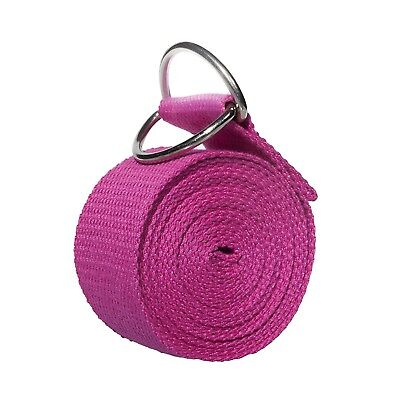 (rose red) - Yoport Yoga Strap Yoga Belt - Best For Stretching – 2.4m long –