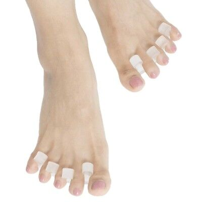 (Two Pairs, Clear Lucite) - Gel Toe Stretcher Separator Fight Bunions Reduce