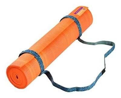 Hugger Mugger Leaf Simple Sling Strap for Yoga Mat, Blue. Delivery is Free